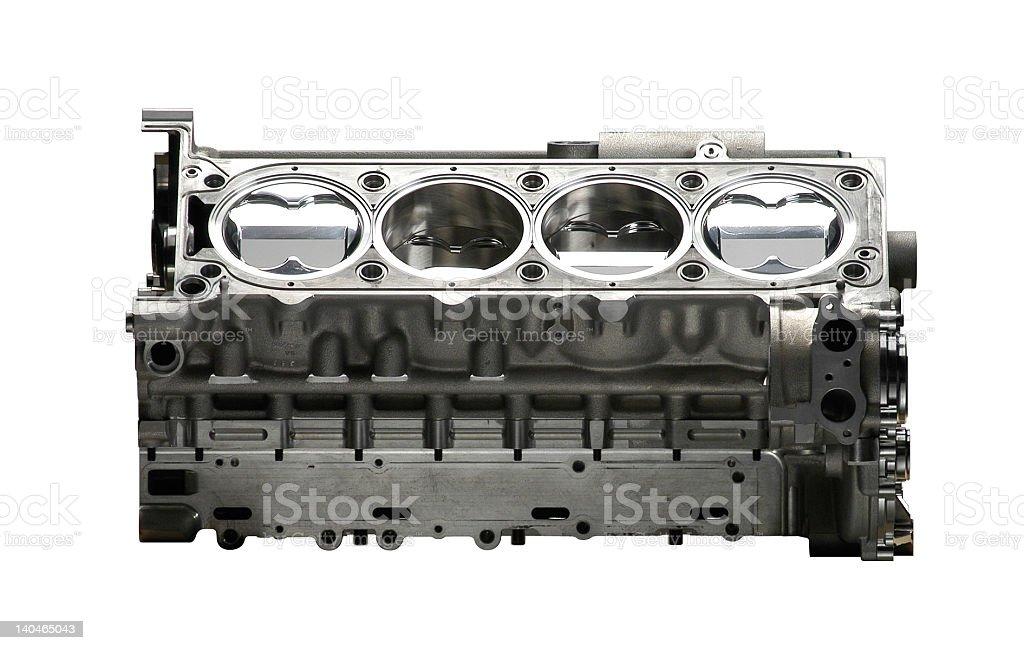 High performance aluminum engine royalty-free stock photo