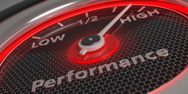 High performance. Car gauge closeup. 3d illustration Performing high concept. Car gauge measure engine high performance close up. 3d illustration performance stock pictures, royalty-free photos & images