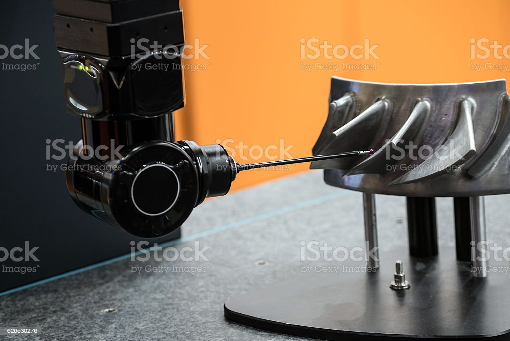 High performance coordinate measuring machine stock photo