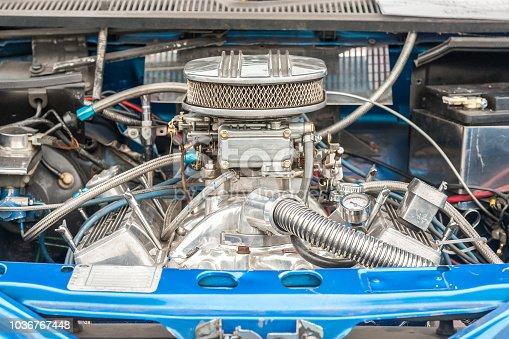 engine bay of a high performance car