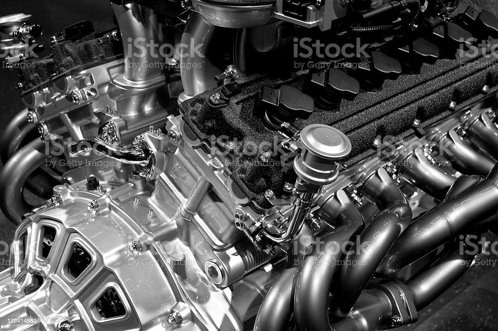 High Performance Engine stock photo