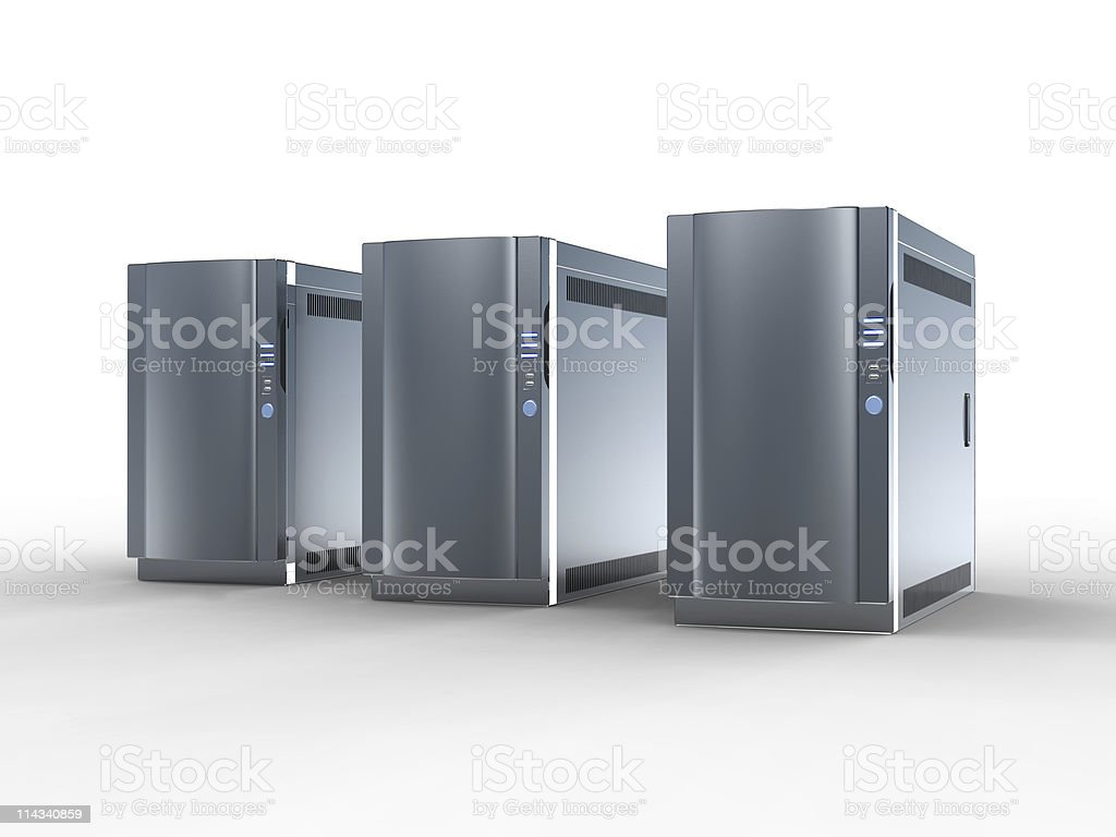 High Performance Servers stock photo