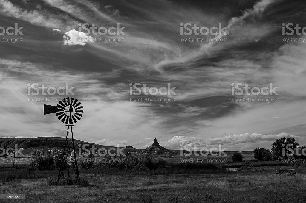 High Plains and Oregon Trail stock photo