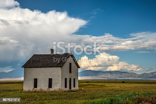 Abandoned house in the San Luis Valley, Colorado.