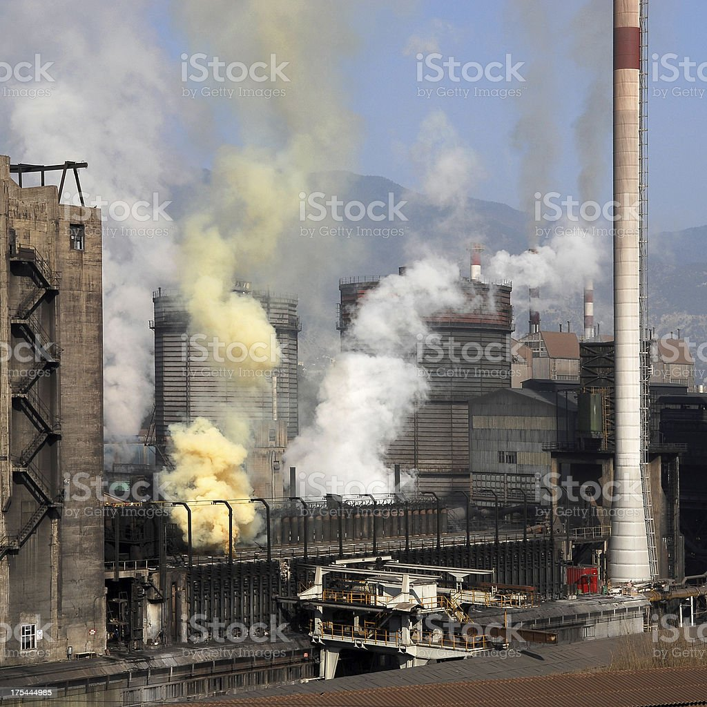 High pollution stock photo