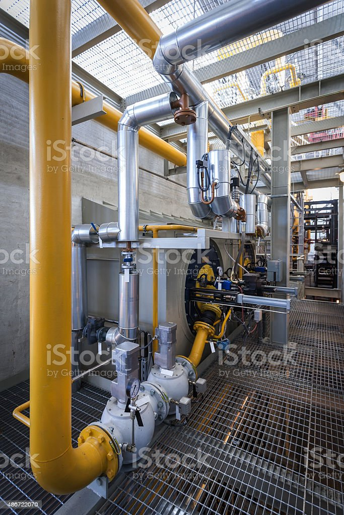 High power boiler burner stock photo