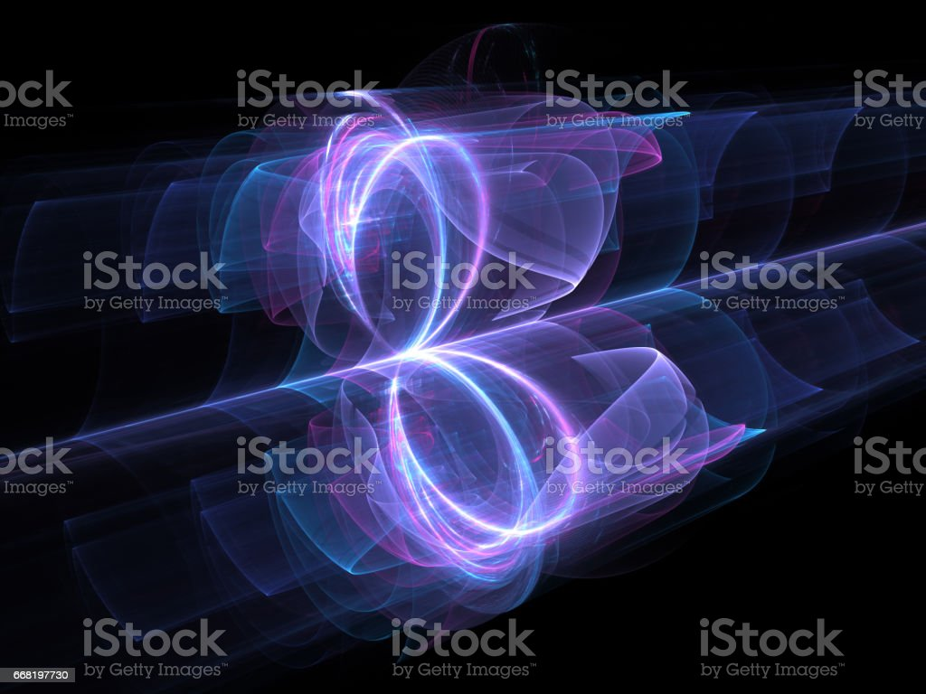 High power looped energy field stock photo