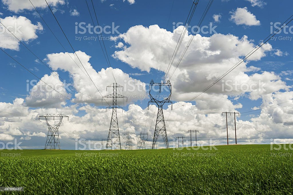 High Power Transmission Line stock photo