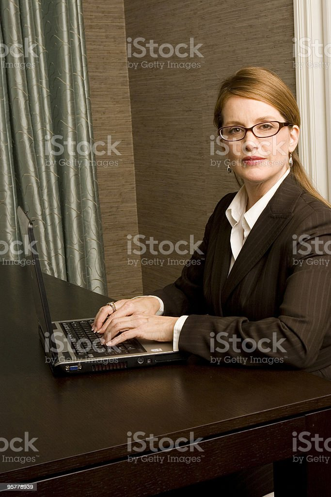 High powered businesswoman royalty-free stock photo