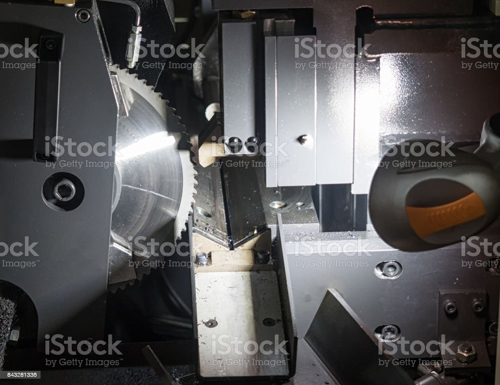 High precision Carbide-Tipped Circular Saw Machine stock photo