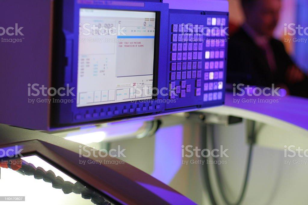 High precision lathe stock photo
