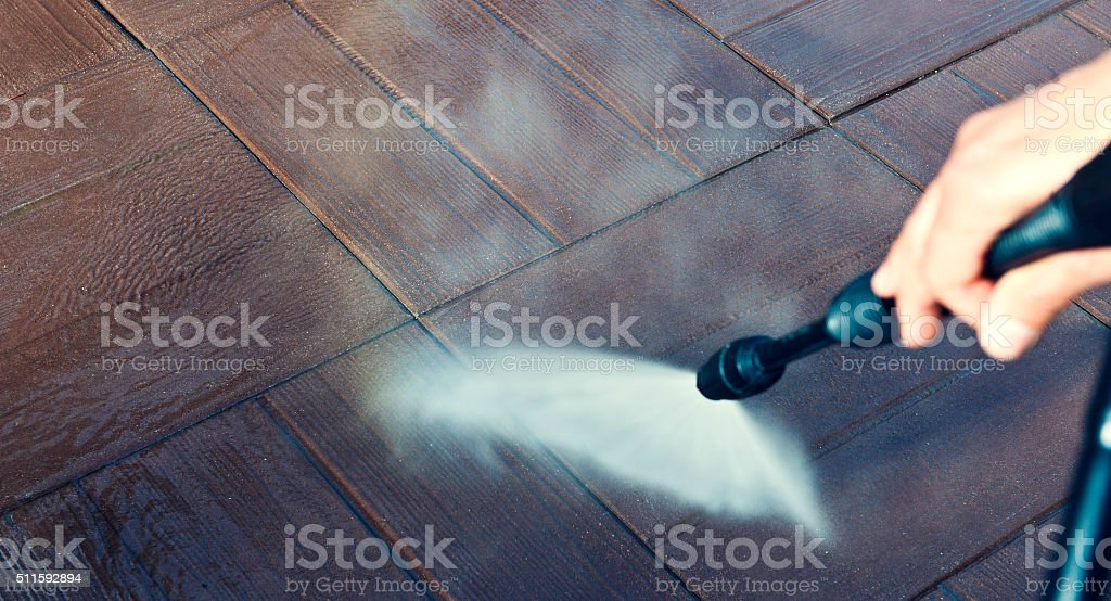 High Pressure Cleaning stock photo