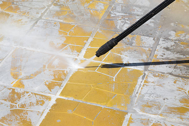 High pressure cleaning with water stock photo