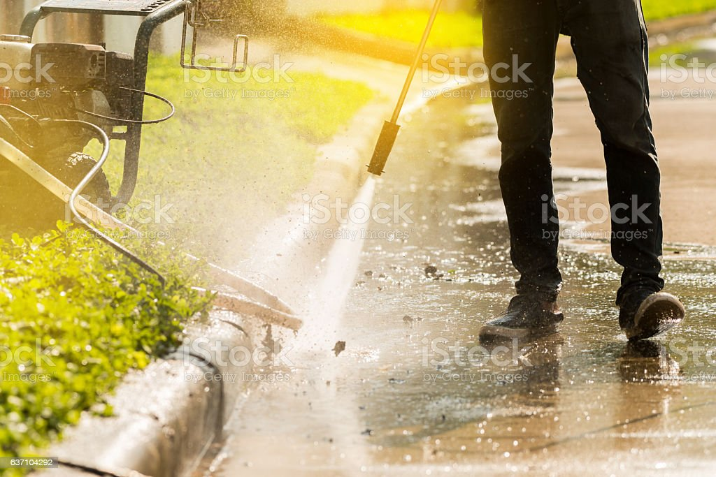 High pressure deep cleaning. stock photo