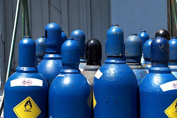 Hohem Druck Sauerstoff Vorratsbehälter – Foto