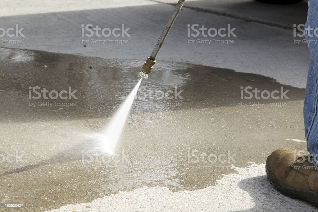 High Pressure Spray royalty-free stock photo
