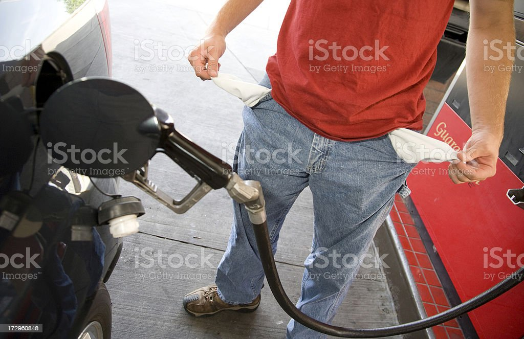 High price of gas royalty-free stock photo