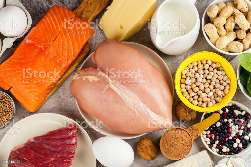 High protein food stock photo