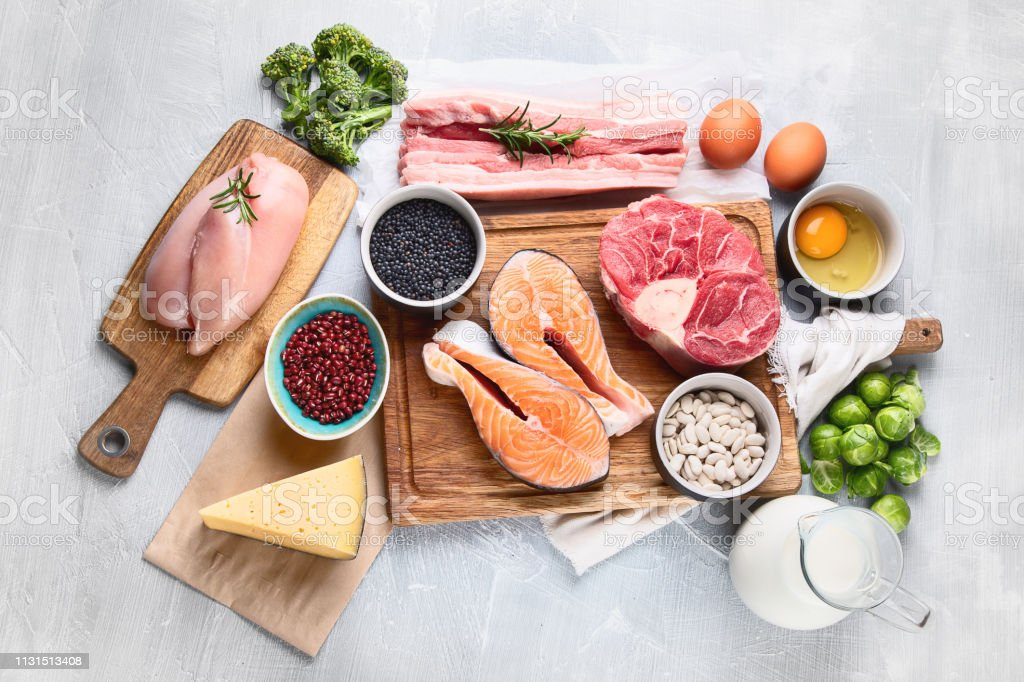 High Protein Foods royalty-free stock photo