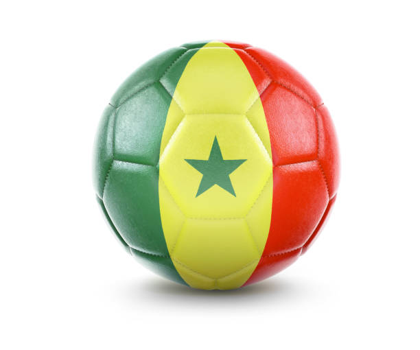 452129514f6 High qualitiy soccer ball with the flag of Senegal rendering.(series) stock  photo