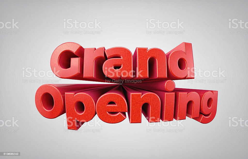 GRAND OPENING - High quality 3D Render stock photo