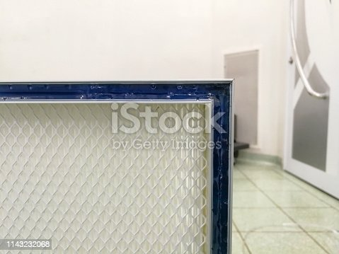 istock High quality filter - Fiberglass media Gel Seal HEPA Air Filters. 1143232068
