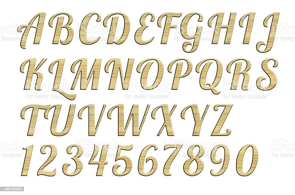 High quality   of letter uppercase alphabets  Wood style. stock photo