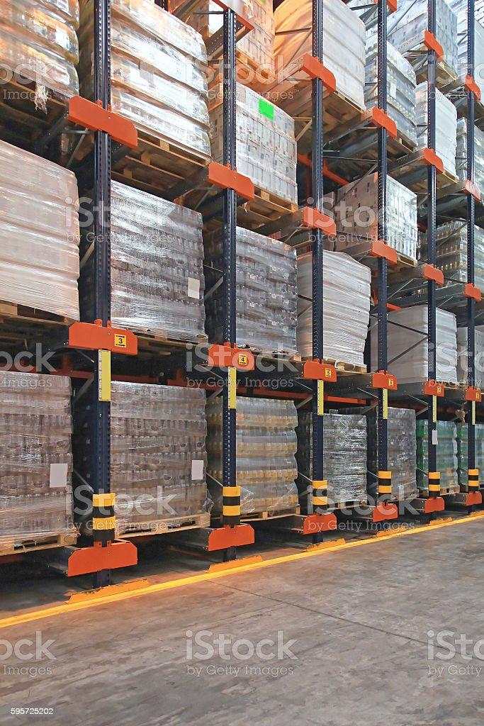 High Rack Shelving stock photo
