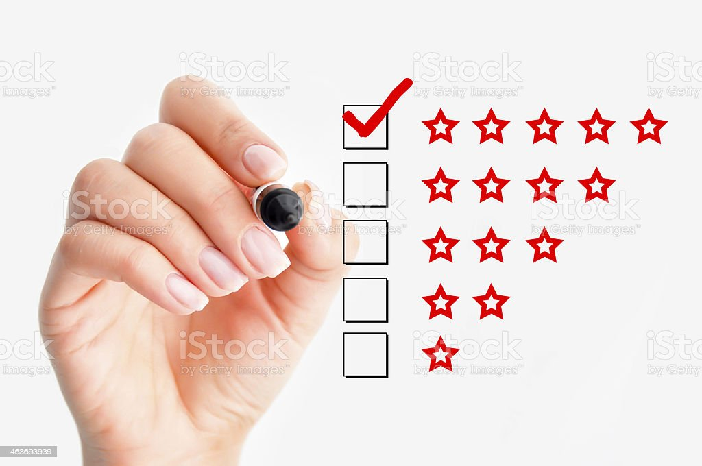 High rating concept stock photo