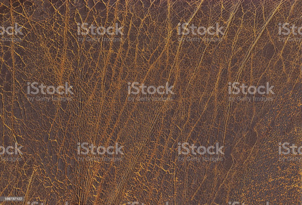 High Reolutions Antique Dark Brown Leather Wizened Grunge Texture royalty-free stock photo