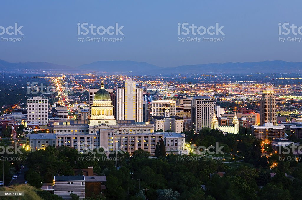 High res photo of Salt Lake City stock photo