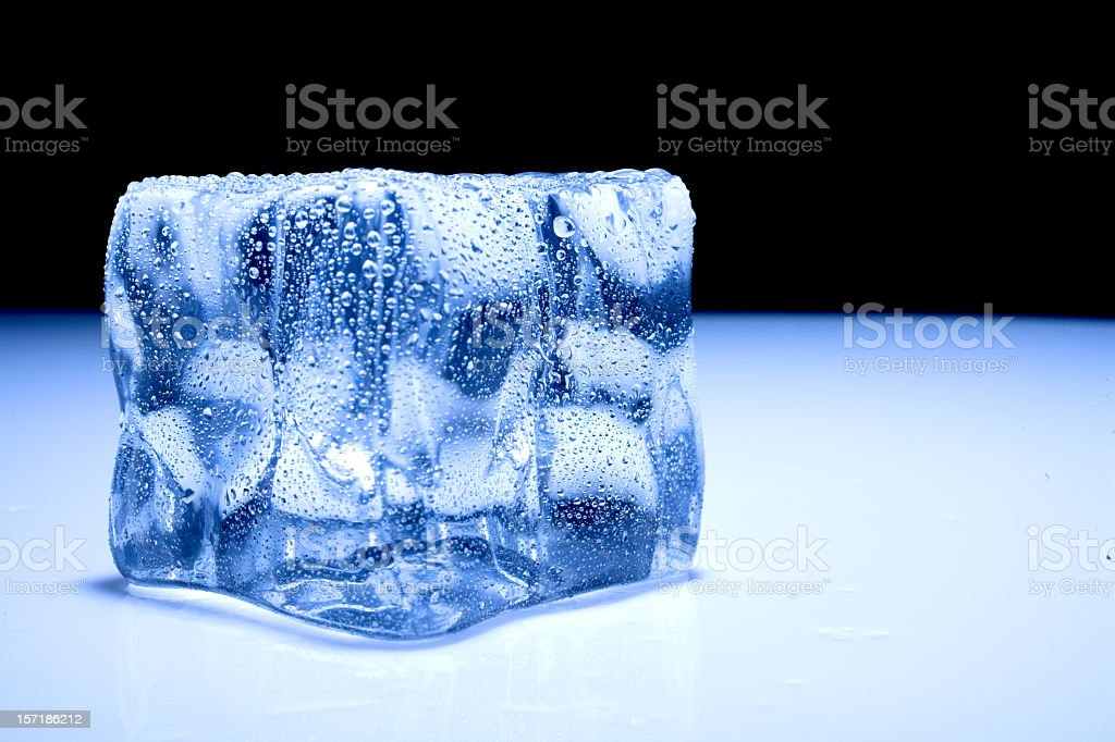 A high res picture of an ice cube stock photo
