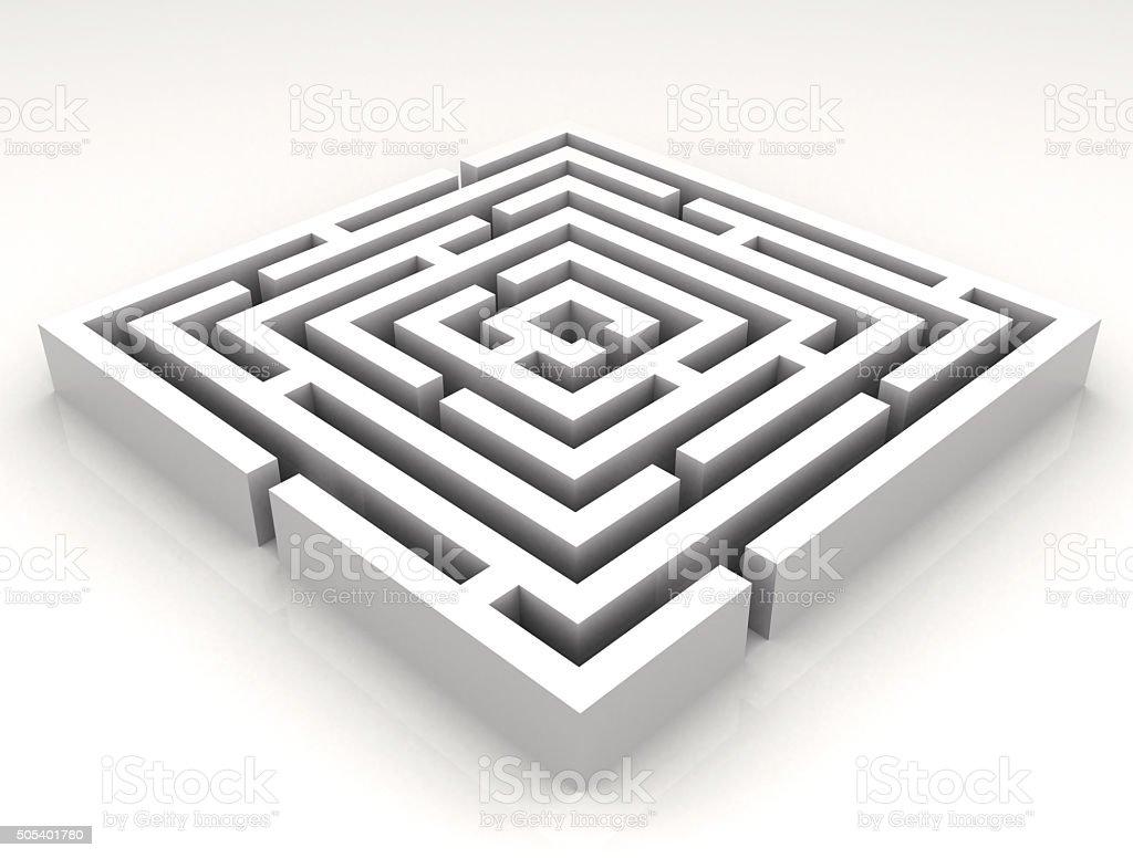 High resolution 3D render of a maze - labyrinth. stock photo