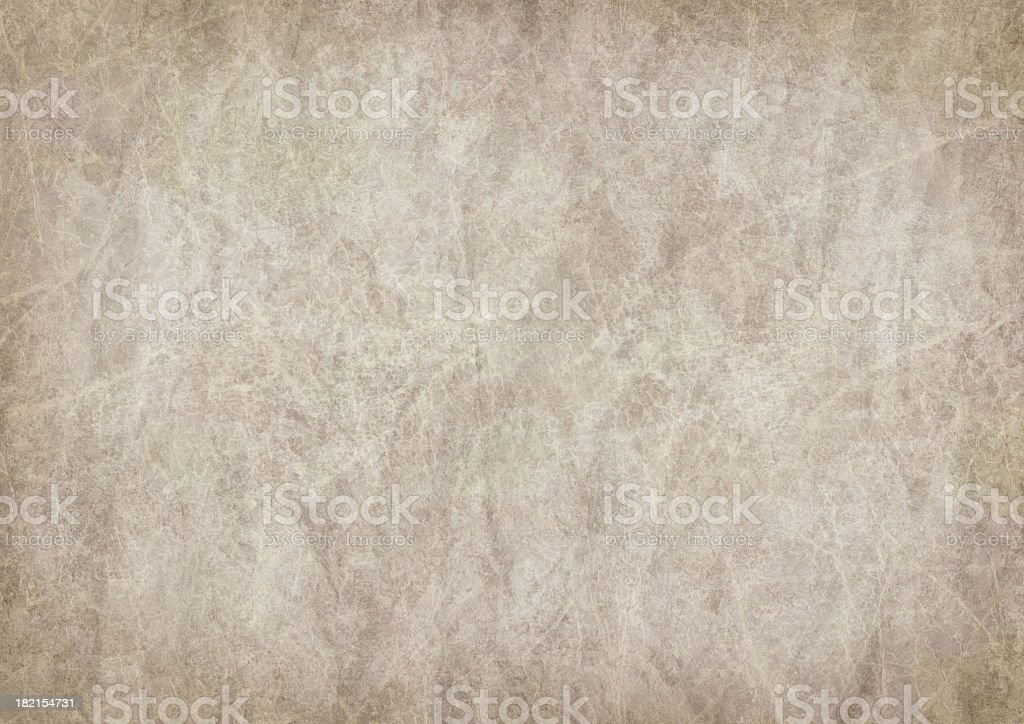 High Resolution Antique Animal Skin Parchment Mottled Vignette Grunge Texture stock photo