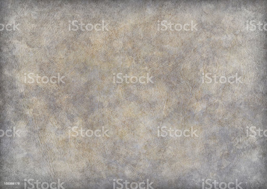 High Resolution Antique Animal Skin Parchment Vignette Grunge Texture stock photo