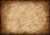 This Large, High Resolution Scan of Antique Animal Skin Parchment, Crumpled, Mottled, Vignette Grunge Texture, is excellent choice for implementation in various CG design projects.