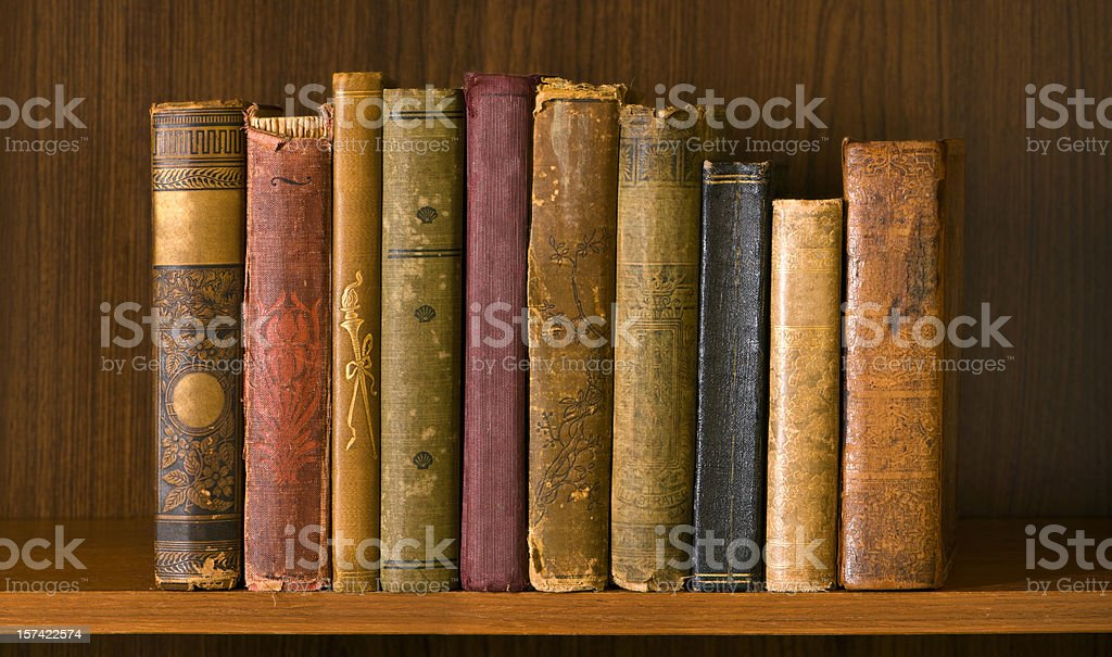 High Resolution Antique Books royalty-free stock photo