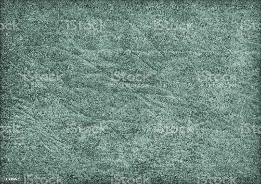 High Resolution Antique Emerald Green Parchment Crumpled Vignette Grunge Texture royalty-free stock photo