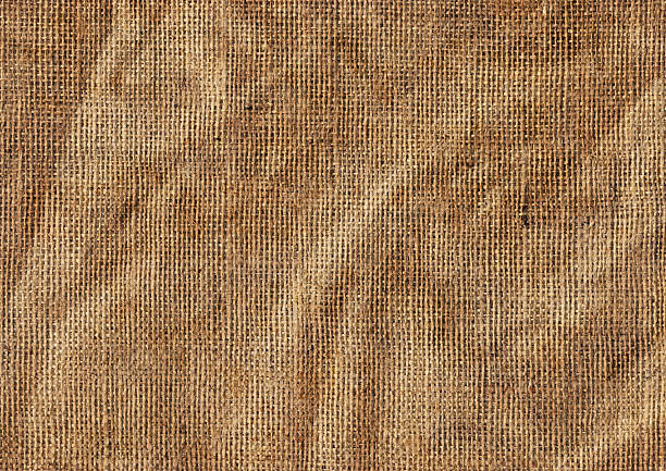 High Resolution Antique Jute Canvas Wrinkled Grunge Texture This Large, High Resolution Coarse, Crushed, Wrinkled Jute Canvas (Burlap, Sackcloth, Gunny) Grunge Texture Sample, is defined with exceptional details and richness, and represents the excellent choice for implementation in various CG Projects.  burlap stock pictures, royalty-free photos & images