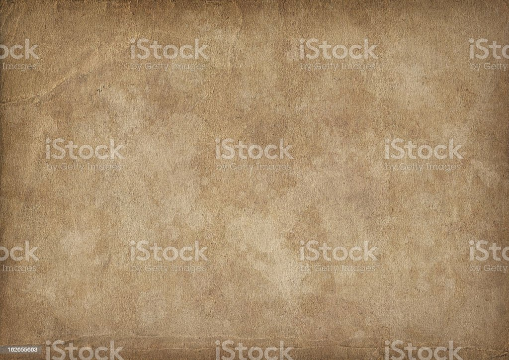 High Resolution Antique Paper Mottled Vignette Grunge Texture royalty-free stock photo