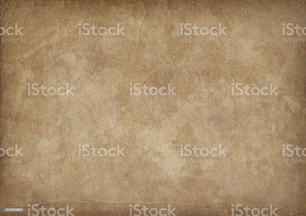 High Resolution Antique Paper Mottled Vignette Grunge Texture stock photo