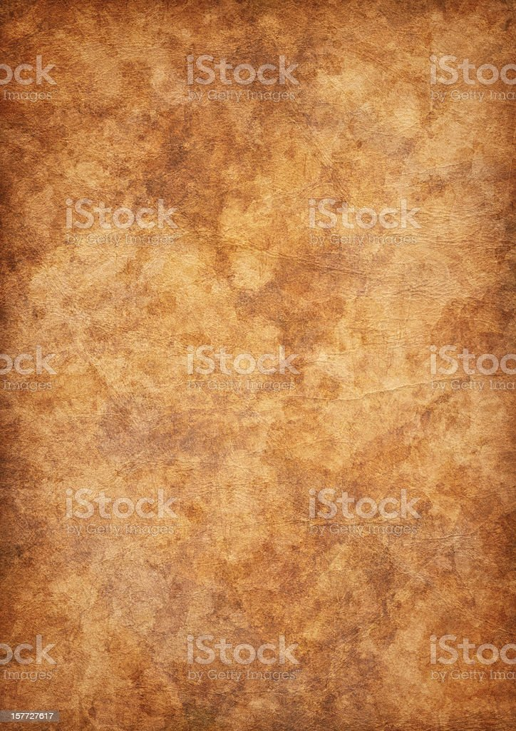 High Resolution Antique Parchment Mottled Vignette Grunge Texture stock photo