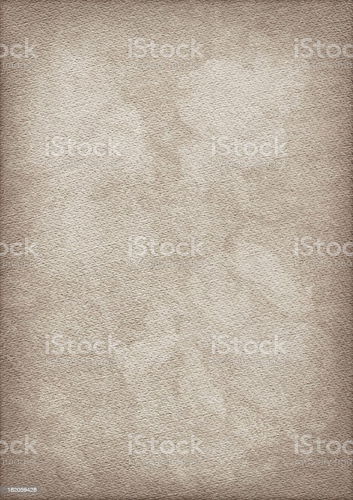 High Resolution Antique Watercolor Paper Mottled Vignetted Grunge Texture royalty-free stock photo