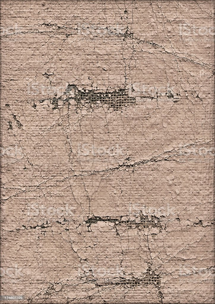 High Resolution Artist's Jute Canvas Beige Primed Crushed Grunge Texture royalty-free stock photo