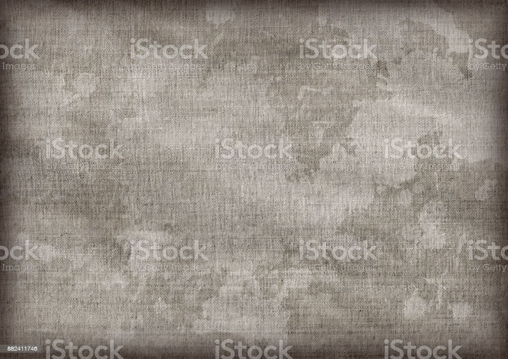 Extra large scanned image of artist\'s mid gray crumpled linen duck...