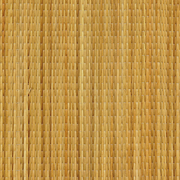 High Resolution Beach Straw Mat Texture Sample stock photo