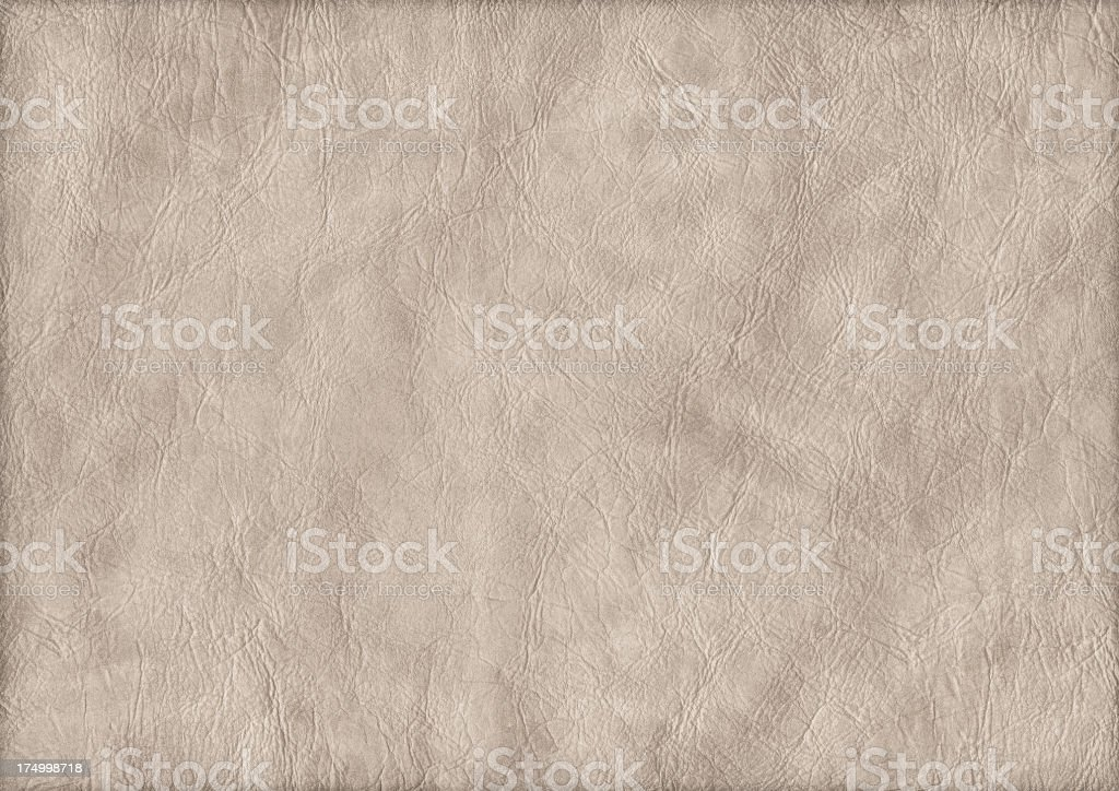 High Resolution Beige Eco Leather Crumpled Grunge Texture stock photo