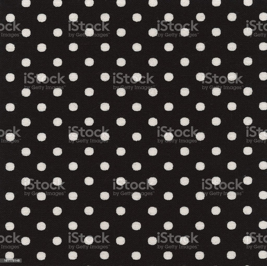 High Resolution Black Fabric White Polka Dots Texture and Background stock photo