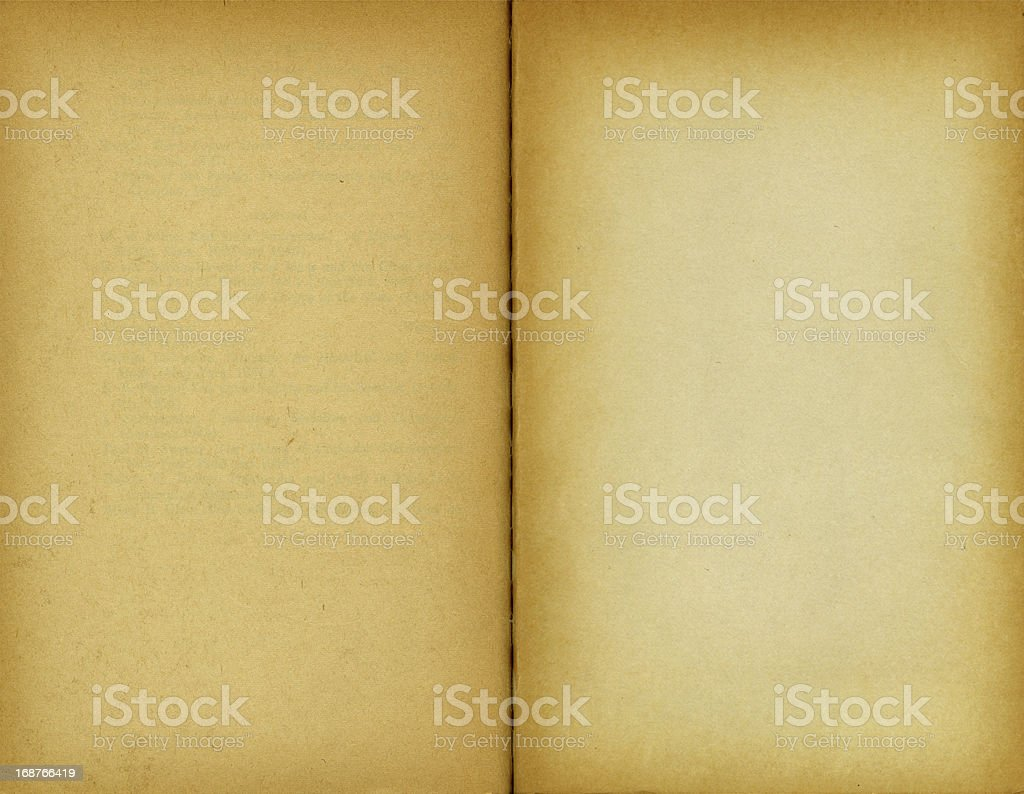 High Resolution Blank Book Pages stock photo
