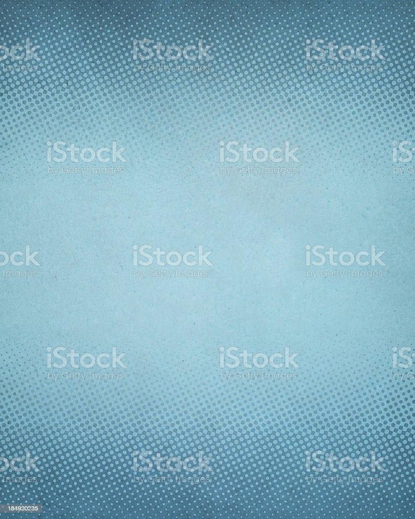 High resolution blue antique paper with halftone royalty-free stock photo